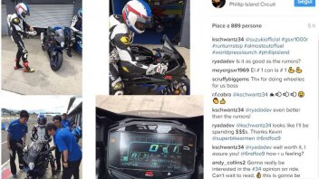 Moto - News: La Suzuki e Schwantz in pista a Phillip Island