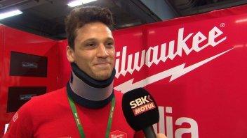 """SBK: Savadori: """"volevo correre, i medici mi hanno fermato"""""""