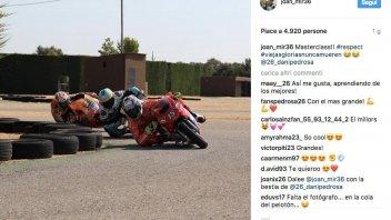 Moto3: Joan Mir training with Pedrosa and Gibernau
