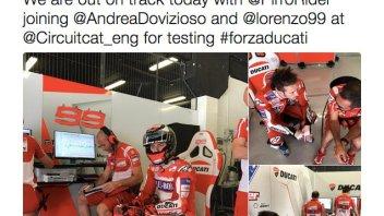 MotoGP: Lorenzo, Dovizioso e Pirro iniziano i test a Barcellona