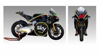 Moto2: Mugello: il Team Sky VR46 con il tricolore sulla carena