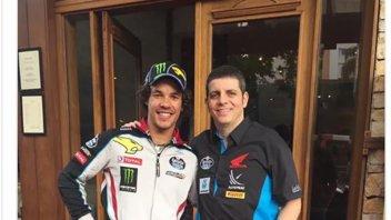 Moto2: Franco Morbidelli incontra Alex Barros in Brasile