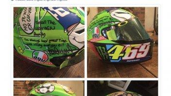 MotoGP: Rossi regala alla famiglia Hayden il casco del Mugello