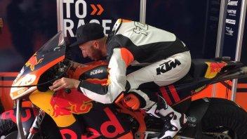 MotoGP: Cairoli takes measurements of KTM MotoGP