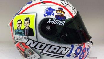 Moto - News: Melandri celebra in un casco i 30 anni di Opinion Leader