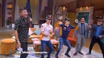 """MotoGP: Marc Marquez scatenato """"a passo"""" di Flamenco"""