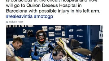 MotoGP: Rabat crashes and the Ducati catches fire: possible fracture