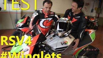"""Moto - Test: Come in MotoGP: al Mugello con Capirossi e le ali della RSV4 """"FW"""""""