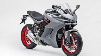 Moto - News: Ducati SuperSport 2019, si veste di grigio