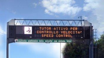 Moto - News: Tutor: dal 15 luglio si riparte su 24/30 tratti autostradali