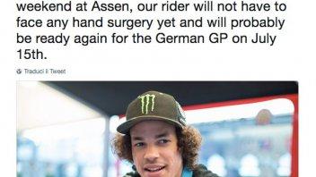 MotoGP: Morbidelli won't undergo surgery, the Sachsenring looking likely