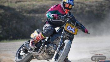 Moto - News: Dovizioso vince la Scrambler Flat Track Race al WDW Ducati