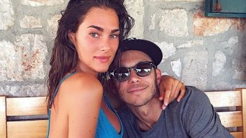MotoGP: ... and in the meanwhile Valentino Rossi with Francesca Sofia Novello ...