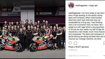"MotoGP: Redding: ""Sorry, Aprilia, Words spoken in rage"""