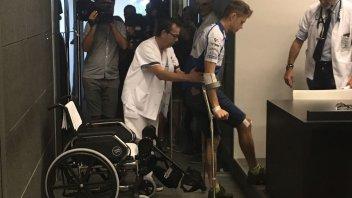 "MotoGP: Rabat: ""my leg was twisted, like an S"""