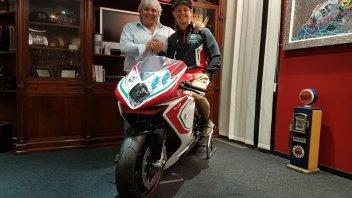 Moto2: Dominique Aegerter con la MV Agusta del team Forward nel 2019
