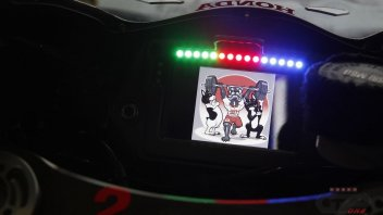 MotoGP: Nakagami: video game display for the japanese rider of Honda