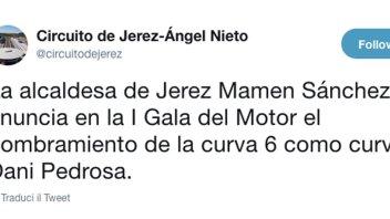 MotoGP: Il circuito di Jerez dedica la curva 6 a Dani Pedrosa