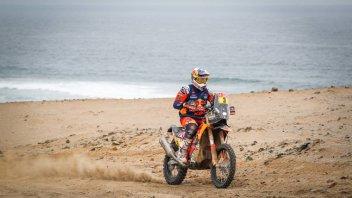 Dakar: Tracollo Honda, Price e la KTM volano in testa