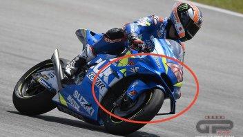 "MotoGP: New Suzuki fairing: the ""catfish"" slims down its whiskers"