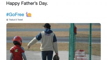 MotoGP: Bagnaia, auguri a tutto gas per papà Pietro