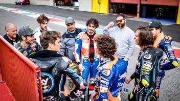 """MotoGP: Rossi and the riders from the Academy """"invaded"""" the Mugello"""