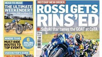 MotoGP: Rossi 'sciacquato' da Rins!