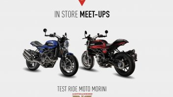 Moto - News: Dainese e Moto Morini, test ride a Roma