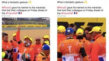 MotoGP: Il bellissimo gesto di Alex Rins al termine del Gran Premio di Francia