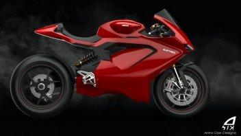 Moto - News: Una Ducati Panigale elettrica? C'è chi l'ha immaginata