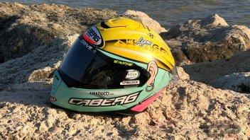 SBK: Massimo Roccoli onora Pantani con un casco
