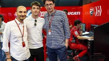 MotoGP: Ferrari also roots for Petrucci: Leclerc and Binotto in Ducati's pit