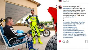 MotoGP: Nicola Dutto rides at the Ranch with Valentino Rossi