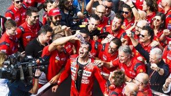 """MotoGP: Petrucci: """"Scusa Dovizioso, questa vittoria la dedico a te"""""""