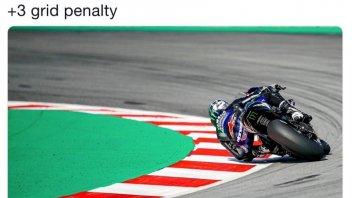 MotoGP: Vinales penalizzato di 3 posizioni, Morbidelli in 1^ fila