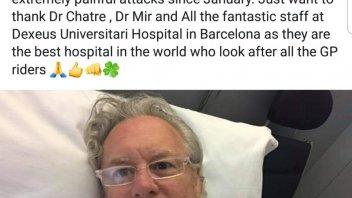 News: Wayne Gardner thanks Dexeus Hospital