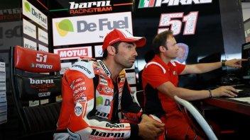 """SBK: Pirro: """"Con la Ducati V4 con le Showa non mi diverto, non so il perché"""""""