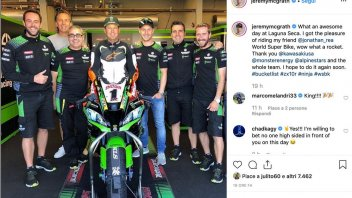 SBK: McGrath gives in to the asphalt and tries Rea's Kawasaki
