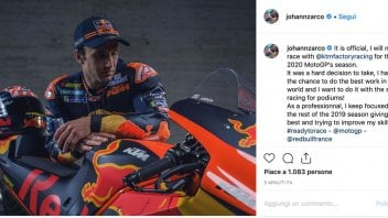 """MotoGP: Zarco: """"KTM farewell, I want to race with a smile and aim for the podium"""""""