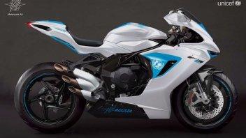 Moto - News: Una MV F3 all'asta per l'Unicef: battuta per 100.000 Euro