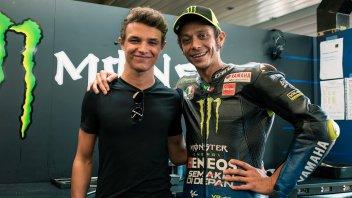 MotoGP: Norris e la giornata con il suo eroe Valentino Rossi a Silverstone