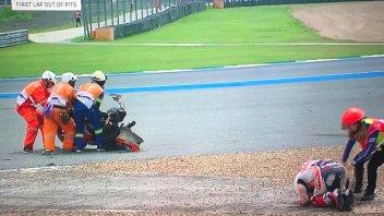 MotoGP: FP1: Brutta caduta per Marquez a Buriram, è in ospedale per controlli