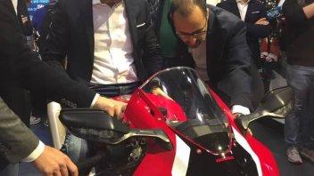 EICMA: Domenicali 'test' the new Honda CBR 1000 RR-R at Eicma
