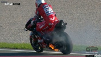 MotoGP: Pirro's Ducati catches fire during FP1 at Valencia