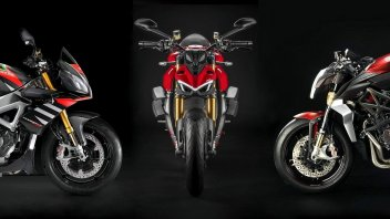 Moto - News: Streetfighter V4, Tuono Factory, Brutale 1000 RR: nude all'italiana