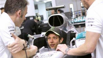 "MotoGP: Rossi already on Hamilton's Mercedes: ""Lewis, we'll have fun."""