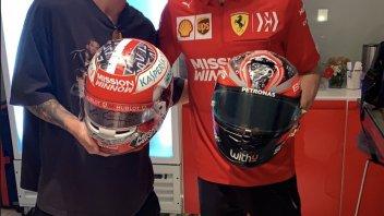 MotoGP: Charles Leclerc and Fabio Quartararo: exchange helmets in Abu Dhabi