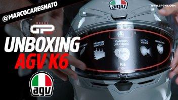 Moto - News: UNBOXING AGV K6: un casco leggero, aerodinamico e dal prezzo centrato
