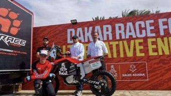 Dakar: Tacita al via per una corsa green