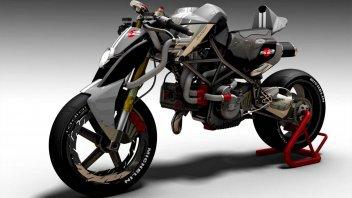 Moto - News: Ducati Braida: un concept che immagina la Monster del futuro